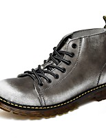 Men's Boots Comfort Snow Boots Fashion Boots Motorcycle Boots Combat Boots Light Soles Real Leather Oxford PU Cowhide Leather Fall Winter