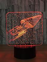 Ночные светильники Декоративное освещение-3W-USB Меняет цвета Сенсорный датчик - Меняет цвета Сенсорный датчик