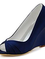 Feminino Sapatos De Casamento Plataforma Básica Cetim com Stretch Primavera Verão Casamento Festas & Noite Fru-Fru AnabelaVermelho Verde