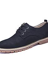 Для мужчин Туфли на шнуровке Для прогулок Удобная обувь Полиуретан Осень Зима Повседневные Для вечеринки / ужина ШнуровкаЧерный Серый