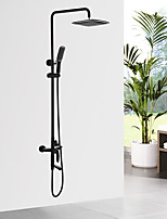 Traditional/Vintage Shower System Ceramic Valve Oil-rubbed Bronze , Shower Faucet