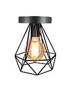 Vintage 1 lumières caisse en métal noir loft lampe de plafond encastré salle à manger applique de cuisine