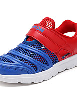 Boys' Flats Comfort Summer Tulle Walking Shoes Casual Magic Tape Flat Heel White Light Blue Royal Blue 2in-2 3/4in