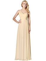 Sheath / Column One Shoulder Floor Length Chiffon Rehearsal Dinner Formal Evening Dress with Side Draping by Sarahbridal
