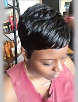 Маленькие свежие черные черные человеческие волосы