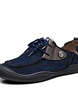 Men's Oxfords Driving Shoes Comfort Fall Winter Real Leather Pigskin Casual Outdoor Office & Career Party & Evening Lace-up Flat Heel