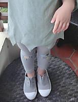 Pantaloni Da ragazza Cotone Tinta unita Fantasia floreale Primavera