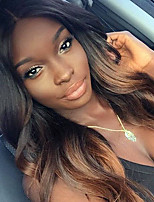 Brown Ombre Brazilian Human Hair Body Wave Lace Front Wig With Baby Hair 130% Density Virgin Remy Hair Glueless Lace Wigs for Woman
