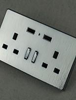 Электрические розетки Нержавеющая сталь С выходом USB-зарядного устройства 8*8*4