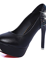 Women's Heels Comfort Basic Pump Spring Summer PU Dress Party & Evening Stiletto Heel White Black Blushing Pink 4in-4 3/4in