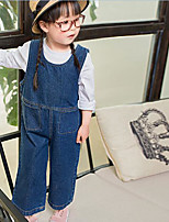 Girls' Solid Overall & Jumpsuit-Polyester Summer