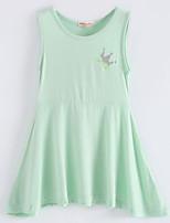 Girl's Solid Dress Sleeveless