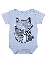 малыш 1 предмет Хлопок Мода С принтом Животные принты Лето С короткими рукавами