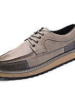 Men's Oxfords Light Soles PU Spring Fall Casual Lace-up Flat Heel Brown Black Flat