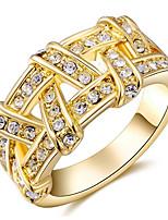 Damen Eheringe Mittelfingerring Bandringe Strass Basis Modisch individualisiert nette Art Luxus-Schmuck Klassisch Elegant Aleación