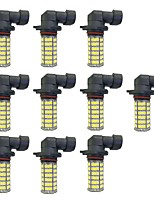 4W 9005 9006 H8 H11 120SMD2835  Headlight/Foglight Lamp for Car White DC12V 10Pcs