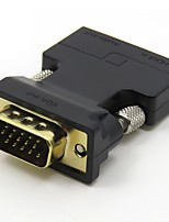 HDMI 1.4 Конвертер, HDMI 1.4 to VGA 3,5 мм аудио разъем Конвертер Male - Female Позолоченная медь