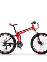 Bicicleta de Montaña Ciclismo 27 Velocidad 26 pulgadas/700CC Microshift TS70-9 Disco de Freno Horquilla de suspenciónCuadro de Acero