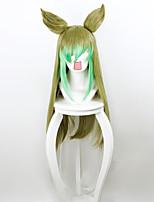 Perruque Synthétique Sans bonnet Mi Longue Raide Vert de menthe Perruque de Cosplay Perruque Déguisement