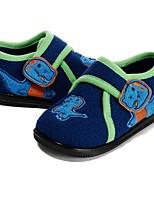 Boys' Loafers & Slip-Ons Walking Vulcanized Shoes Flocking Fall Winter Casual Dress Applique Hook & Loop Flat Heel Royal Blue Flat