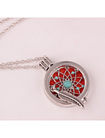 Women's Pendant Necklaces Rhinestone Locket Leaf Alloy Fashion Jewelry For Wedding Party Birthday Graduation Gift Daily