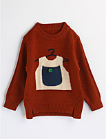 Girls' Color Block Blouse,Cotton Spring Fall Long Sleeve