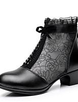 Для женщин Ботинки Удобная обувь Полиуретан Лето Повседневные Черный 2,5 - 4,5 см