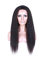 Glueless Lace Front Human Hair Wigs Unprocessed Virgin Brazilian Hair Black Color Kinky Straight Lace Wig For Black Women