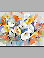 Hand-Painted Botanical Flowers Art Retro Classic & Timeless One Panel Canvas Oil Painting For Home Decoration