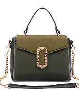 Women Bags All Seasons PU Tote with for Casual Military Green