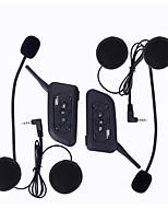 Motocicleta V4.2 Auricular y Micrófono Bluetooth Pendiente de estilo colgante Transmisores FM Puerto USB Reproductor MP3