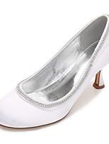 Femme Chaussures de mariage Confort Escarpin Basique Satin Printemps Eté Mariage Habillé Soirée & Evénement Strass Paillette Brillante