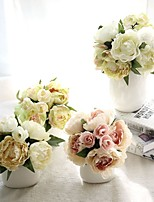 1 шт. 1 Филиал Шелк Полиэстер Пионы Букеты на стол Искусственные Цветы