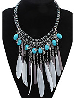 Pendant Necklace Women's Euramerican Fashion Feather Tassel  Choker Necklaces Party Casual Halloween Statement Jewelry