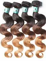 4 Bundles Peruvian Ombre Hair Body Wave Human Hair Weaves 100 Grams Per Bundles Color 1B/4/27