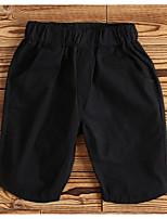Pantalons Garçon Couleur Pleine Coton Eté