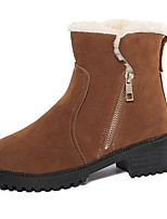 Для женщин Ботинки Удобная обувь Полиуретан Весна Лето Повседневные На крючках На низком каблуке Черный Желтый Красный Менее 2,5 см