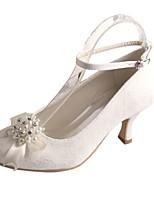 Femme Chaussures de mariage Escarpin Basique Satin Elastique Printemps Automne Mariage Soirée & Evénement Cristal Perle Talon Aiguille