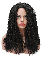 Glueless Full Lace Suitable For Black Women Human Hair Wigs Kinky Curly With Baby Hair Natural Black