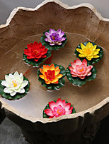 1 Piece 10 Cm Emulation Lotus Lotus Lotus Flower Water Lilies Two And Half Petals Aquatic Floating Objects Floating