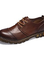 Для мужчин Туфли на шнуровке Удобная обувь Светодиодные подошвы Формальная обувь Обувь для дайвинга Осень Зима Натуральная кожа Кожа
