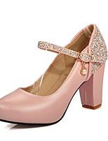 Femme Chaussures Cuir Nubuck Polyuréthane Printemps Confort Chaussures à Talons Pour Décontracté Blanc Bleu Rose dragée clair