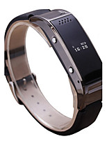 Men's Fashion Watch Digital Leather Band Black