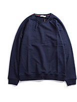 Men's Sports Running Going out Casual/Daily Simple Sweatshirt Solid Oversized Round Neck Micro-elastic Cotton Long Sleeve Spring Fall