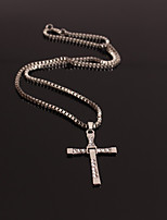 Men's Women's Choker Necklaces Jewelry Cross Alloy Personalized Cross Jewelry For Wedding Street