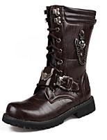 Для мужчин Ботинки Удобная обувь Оригинальная обувь Модная обувь Армейские ботинки Искусственное волокно Полиуретан Осень Зима
