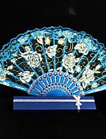 Layer Lace Blue Hand Fan   1 Piece/Set   Hand Fans Wedding Laces