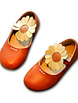 Girls' Flats Comfort Spring Fall PU Casual Gray Orange Flat