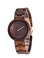 Муж. Часы Дерево Японский Кварцевый деревянный Дерево Группа Креатив Люкс Элегантные часы Черный