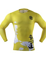 Men's Quick Dry Reduces Chafing Lightweight for Yoga Running/Jogging Boxing Cycling Fitness Spandex Polyester XXL XL L M